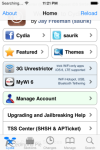 Non-Apple app store Cydia shown on iOS 7, with caveats